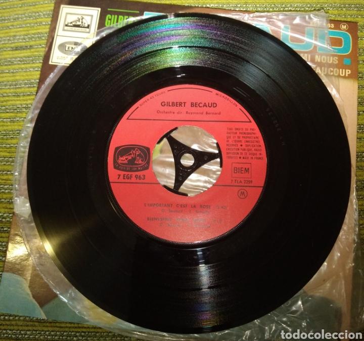 Discos de vinilo: Gilbert Becaud - L'important C'est la rose + 3 - Foto 2 - 191216643