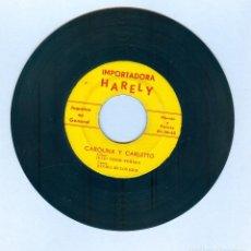 Discos de vinilo: NUMULITE * CAROLINA Y CARLETTO ELVIRA DE LOS RÍOS AUTOR JULIO CÉSAR FUMERO IMPORTADORA HARELY . Lote 191220236