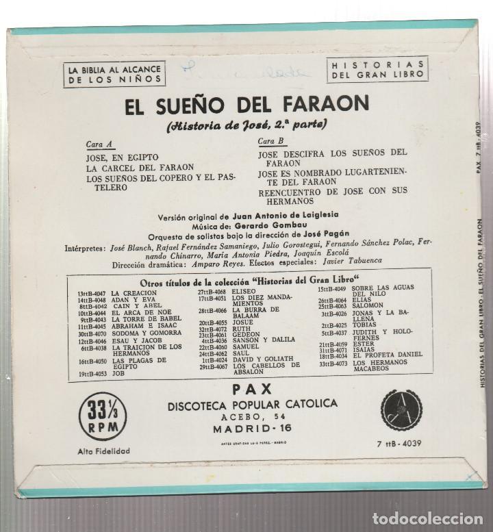 Discos de vinilo: HISTORIAS DEL GRAN LIBRO-EL SUEÑO DEL FARAON - Foto 2 - 191223588