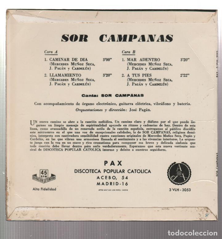 Discos de vinilo: SOR CAMPANAS - Foto 2 - 191223658