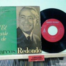 Discos de vinilo: LMV - EL ARTE DE MARCOS REDONDO. ODEON 1960, REF.BSOE 4.097. Lote 191243800