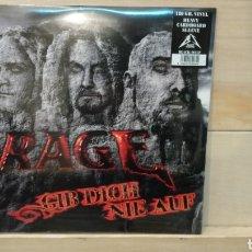 Discos de vinilo: RAGE –GIB DICH NIE AUF . LP VINILO PRECINTADO. HEAVY METAL. Lote 191248421