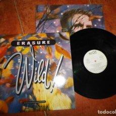 Discos de vinilo: ERASURE WILD! LP VINILO PROMO ESPAÑA DEL AÑO 1989 EMI LABEL BLANCO ANDY BELL CONTIENE 11 TEMAS . Lote 191262660