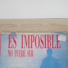 Discos de vinil: ES IMPOSIBLE NO PUEDE SER-INVISIBLE-MEGABEAT-VINILO-LP 33 RPM-AÑO 1990.. Lote 191279433
