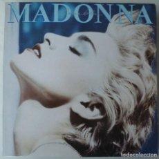 Discos de vinilo: MADONNA - TRUE BLUE (LP WEA 1986 ESPAÑA) COMO NUEVO · LLEVA LA FUNDA INTERIOR CON LAS LETRAS. Lote 191283653