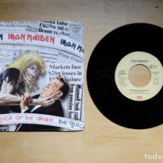 Discos de vinilo: IRON MAIDEN BE QUICK OR BE DEAD 7 SINGLE EDICION EUROPEA. Lote 191294371