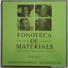 Disques de vinyle: FONOTECA DE MATERIALS - REC. SONOREA DE LA MÚSICA TRADICIONAL VALENCIANA - 6 X LP BOX - COMO NUEVO!. Lote 191299080