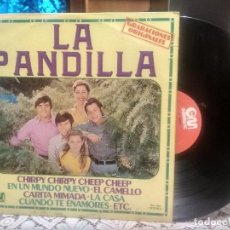 Discos de vinilo: LA PANDILLA. CHIRPY CHIRPY CHEEP CHEEP. EN UN MUNDO NUEVO. EL CAMELLO LP GM 1978 PEPETO. Lote 191302703