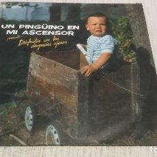Discos de vinilo: UN PINGUINO EN MI ASCENSOR - DISFRUTAR CON LAS DESGRACIAS AJENAS LP 12'' EDICIÓN ESPAÑOLA 1988. Lote 191308443