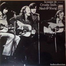 Discos de vinilo: CROSBY, STILLS, NASH & YOUNG.LO MEJOR DE CROSBY, STILLS, NASH & YOUNG.(ATLANTIC – HISPAVOX 1971). Lote 191309982