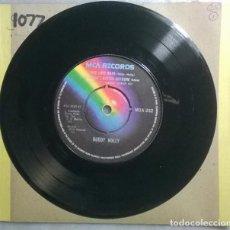 Discos de vinilo: BUDDY HOLLY. TRUE LOVE WAYS/ IT DOESN'T MATTER ANYMORE/ RAINING IN MY HEART/ MOONDREAMS (1959). MCA,. Lote 191314432
