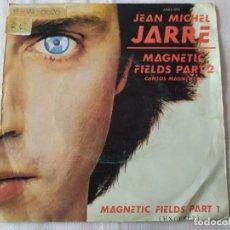 Discos de vinilo: JEAN MICHEL JARRE – MAGNETIC FIELDS PART 2 / MAGNETIC FIELDS PART 1 EXCERPT. Lote 191329147
