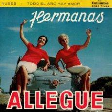 Discos de vinilo: HERMANAS ALLEGUE - GIRA LA VELETA + 3 - EP SPAIN 1960 . Lote 191348830