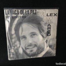 Discos de vinilo: ALEX MARCO - LA VACA DE LA PAZ. PAPA, MAMÁ Y EL NENE- PORTADA ULTRA RARA ESPAÑA 1968. Lote 191349093