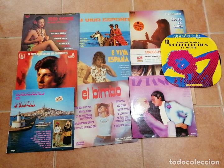 LOTE DE 10 DISCOS ESPAÑOLES (Música - Discos de Vinilo - Maxi Singles - Cantautores Españoles)