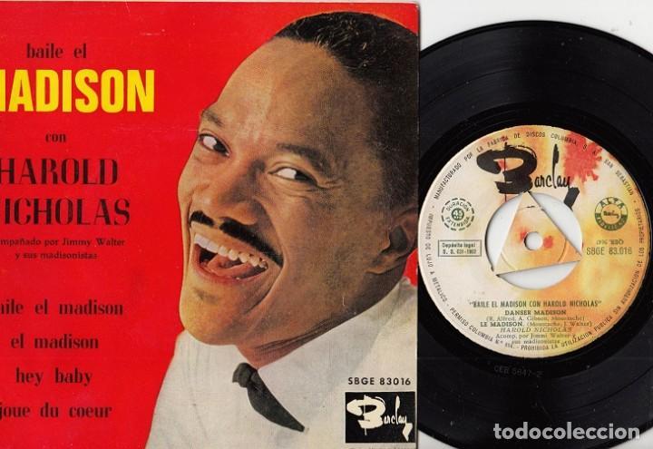 HAROLD NICHOLAS - BAILE EL MADISON - EP ESPAÑOL DE VINILO # (Música - Discos de Vinilo - EPs - Canción Francesa e Italiana)