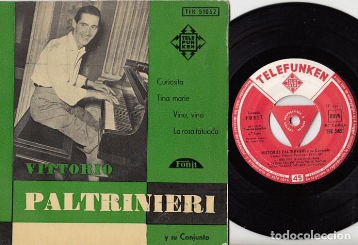 VITTORIO PALTRINIERI - CURIOSITA - EP ESPAÑOL DE VINILO - TELEFUNKEN # (Música - Discos de Vinilo - EPs - Canción Francesa e Italiana)