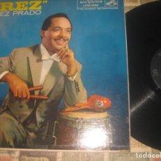 Discos de vinilo: PEREZ PRADO PREZ LP (RCA-VICTOR -1958) OG PRIMERA EDICION MONO USA EXCELENTE ESTADO. Lote 191367052