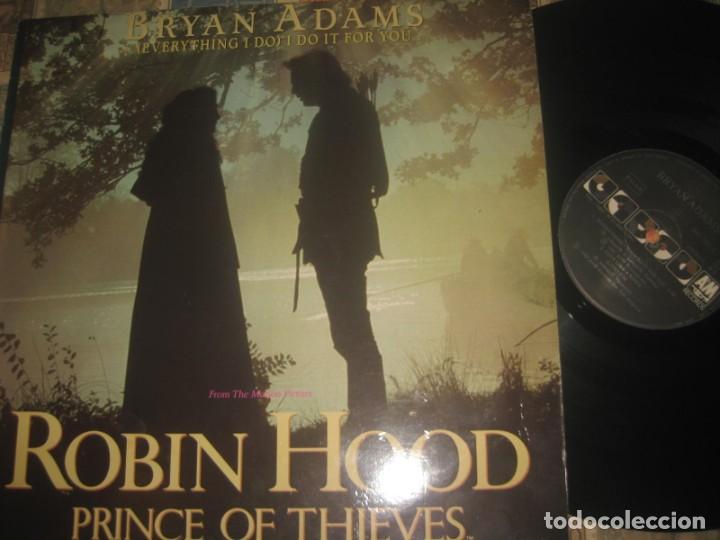 Discos de vinilo: ROBIN HOOD, PRINCE OF THIEVES - MÚSICA DE BRYAN ADAMS - BANDA SONORA ORIGINAL - MAXI SINGLE 4 TEMAS - Foto 2 - 191367570