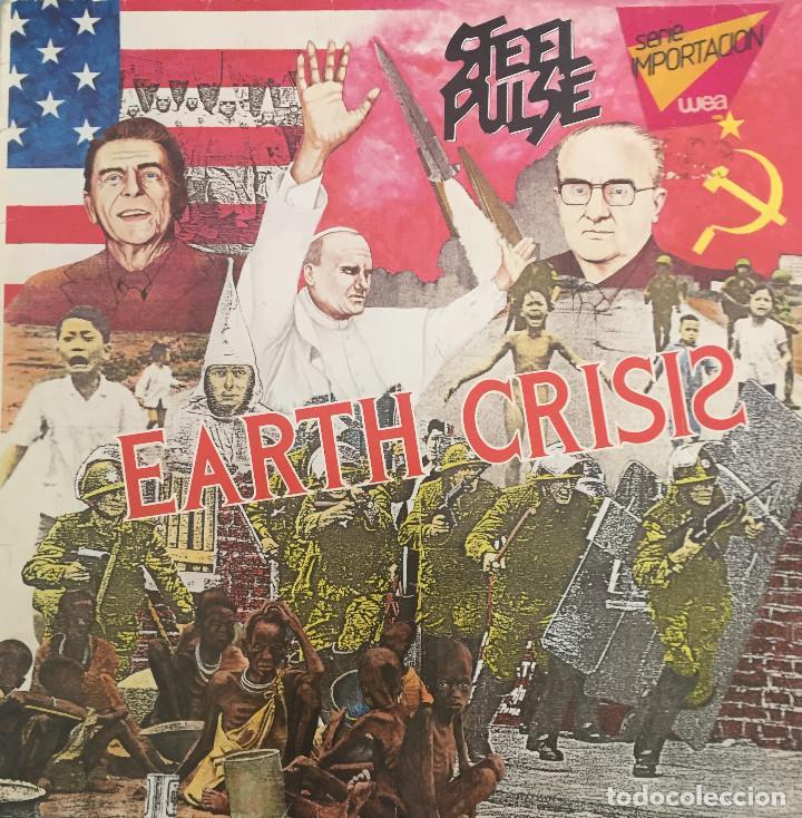 STEEL PULSE - EARTH CRISIS - ELEKTRA RECORDS - SERIE IMPORTACION WEA - 1984 - REGGAE (Música - Discos - LP Vinilo - Reggae - Ska)