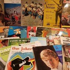 Discos de vinilo: LOTE DISCOS USADOS / 30 SINGLES-EPS / POP-ROCK / TODOS CON MARCAS DE USO. VER FOTOS.. Lote 191385470