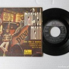 Discos de vinilo: MANFRED MANN - JUST LIKE A WOMAN + 3 - FONTANA 465 320 TE (1966). Lote 191392913