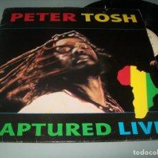 Discos de vinilo: PETER TOSH - CAPTURED LIVE ...LP DE - EMI - 1984 .. EDICION ESPAÑOLA - BUEN ESTADO. Lote 191394127