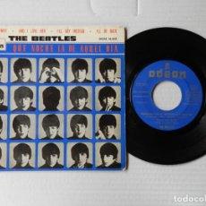 Discos de vinilo: THE BEATLES - (QUE NOCHE LA DE AQUEL DIA) TELL ME WHY + 3 - ODEON 16.618 - (1964). Lote 191394517