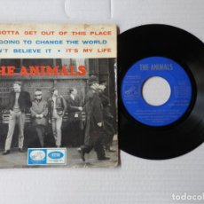 Discos de vinilo: THE ANIMALS - EP - WE GOTTA GET OUT OF THIS PLACE + 3 - EMI 7EPL 14.222 (1965). Lote 191395435