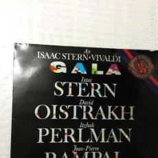 Discos de vinilo: GALA. I. STERN, D. OISTRAKH, I. PERLMAN, J.P. RAMPAL, P. ZUKERMAN. CBS FRANCE, 1982.. Lote 191396437