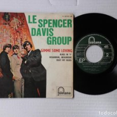 Discos de vinilo: SPENCER DAVIS GROUP - EP - GIMME SOME LOVING + 3 - FONTANA 465 337 ME - FR,. Lote 191396531