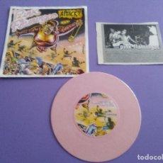 Discos de vinilo: JOYA EP PUNK.PINK FLAMINGOS.ATTACK.SELLO:WILD PUNK RECORDS.WPR 002SG.AÑO 1998.VINILO COLOR ROSA.. Lote 191396975
