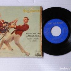 Discos de vinilo: TONY AND CHARLEY - EP - BAILANDO ROCK TWIST + 3 - ODEON 7EPL 13.769 (1962). Lote 191399165