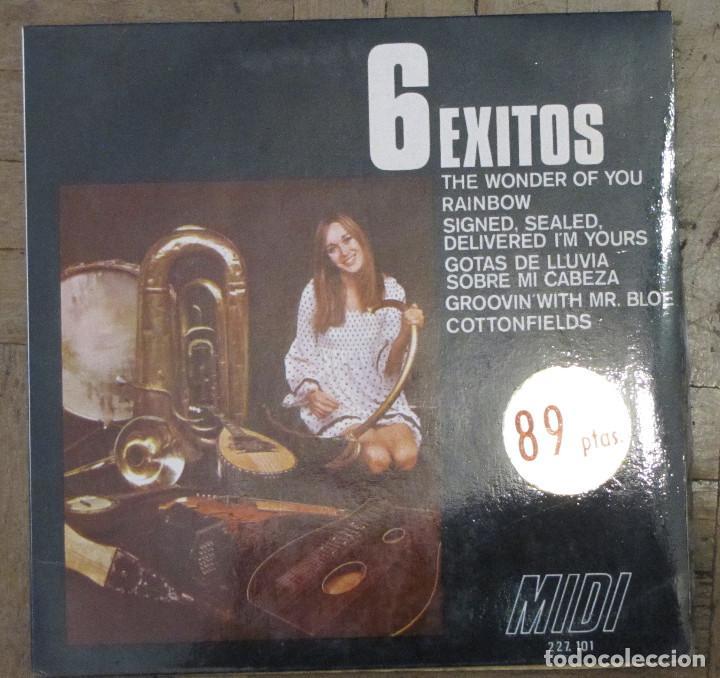 6 ÉXITOS. MIDI, 227.101. 1970. FUNDA VG++. DISCO VG++. (Música - Discos de Vinilo - EPs - Solistas Españoles de los 50 y 60)