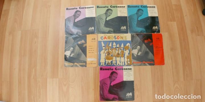 RENATO CAROSONE-LOTE DE 7 EPS, (Música - Discos de Vinilo - EPs - Canción Francesa e Italiana)