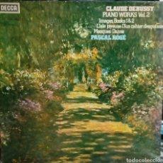 Discos de vinilo: DEBUSSY. PIANO WORKS VOL.2. PASCAL ROGE. DECCA 1980. (1 LP). Lote 191405792