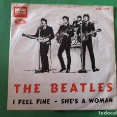 Discos de vinilo: THE BEATLES-I FEEL FINE SHES A WOMAN. Lote 191413002