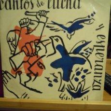 Discos de vinilo: CANTOS DE LUCHA Y ESPERANZA - CANTOS REVOLUCIONARIOS MEJICO ESPAÑA RUSIA ETC. MUY RARO. Lote 191427673