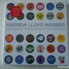 Discos de vinilo: ANDREW LLOYD WEBBER. UNMASKED: THE PLATINIUM COLLECTION. CAJA CON 5 LPS DE VINILO. NUEVOS A ESTRENAR. Lote 191450122