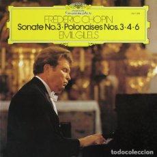 Discos de vinilo: FRÉDÉRIC CHOPIN–EMIL GILELS_–SONATE NO.3 · POLONAISES NOS. 3 · 4 · 6. Lote 191461086