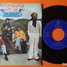 Discos de vinilo: ALCATRAZ PROMESAS/NO SE HISPAVOX 1974. Lote 191474788