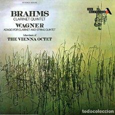 Discos de vinilo: BRAHMS*,WAGNER* -MEMBERS OF THE VIENNA OCTET*_?CLARINET QUINTET & ADAGIO FOR CLARINET & STRING Q. Lote 191477275