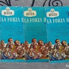 Discos de vinilo: VERDI* -MARIO DEL MONACO,RENATA TEBALDI,CESARE SIEPI,GIULIETTA SIMIONATO,ETTORE BASTIANINI,FER. Lote 191477290