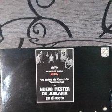 Discos de vinilo: NUEVO MESTER DE JUGLARÍA_–10 AÑOS DE CANCIÓN TRADICIONAL - EN DIRECTO. Lote 191477332