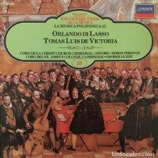Discos de vinilo: ROLAND DE LASSUS,TOMÁS LUIS DE VICTORIA_–LA MUSICA POLIFONICA I. Lote 191477352