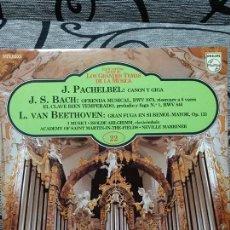 Discos de vinilo: J. PACHELBEL / J.S. BACH / I. VAN BEETHOVEN - CANON Y GIGA. Lote 191477636