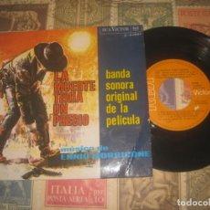 Discos de vinilo: LA MUERTE TENIA UN PRECIO ENNIO MORRICONE (RCA VICTOR 1966) OG ESPAÑA . Lote 191480310