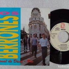 Discos de vinilo: LOS BERRONES - ANIMAL DE DISCO-BAR - SINGLE PROMOCIONAL 1993 - ZAFIRO. Lote 191483131