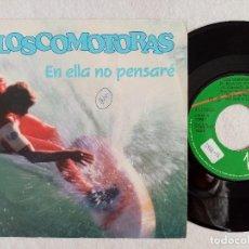 Discos de vinilo: LOSCOMOTORAS - EN ELLA NO PENSARÉ / LUCILLA - SINGLE PROMOCIONAL 1989 - VIRGIN. Lote 191484887