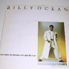 Discos de vinilo: BILLY OCEAN GET OUTTA MY DREAMS , TET INTO MY CAR. Lote 191484963